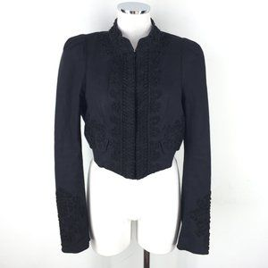 bebe Matador cropped jacket M 10 Blazer beaded